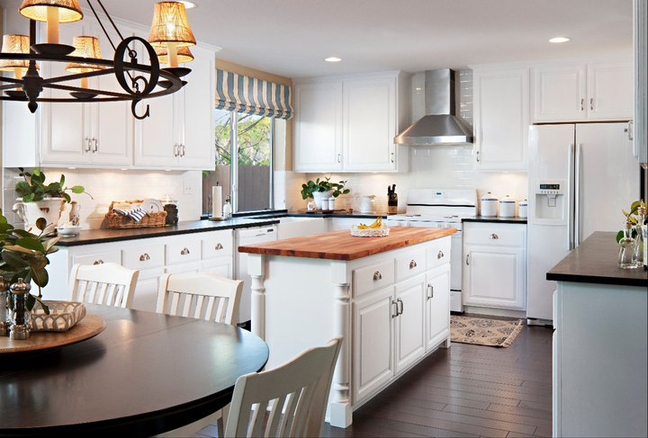 Kitchen Countertop Ideas, Mixing Granite and Butcher Block - TLS