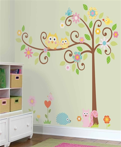 we often include a painted mural in our nursery designs to provide that colorful whimsical touch - Baby Wall Designs