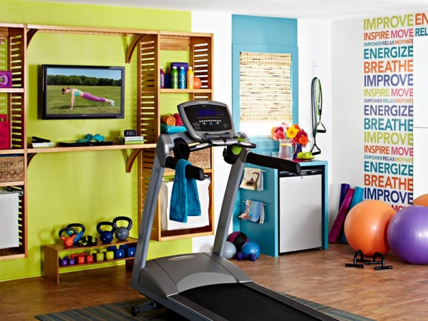 Home gym decorating ideas gym design ideas tracy lynn for Cost of building a gym