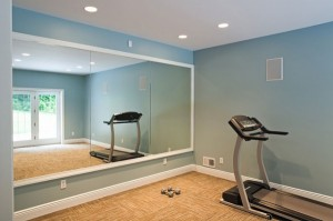 Mirrors in your home gym make the space feel larger.