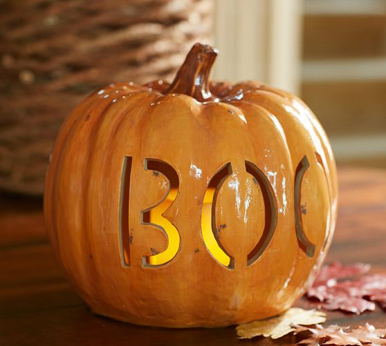 Ideas for fall decorating fall season home d cor for Boo pumpkin ideas