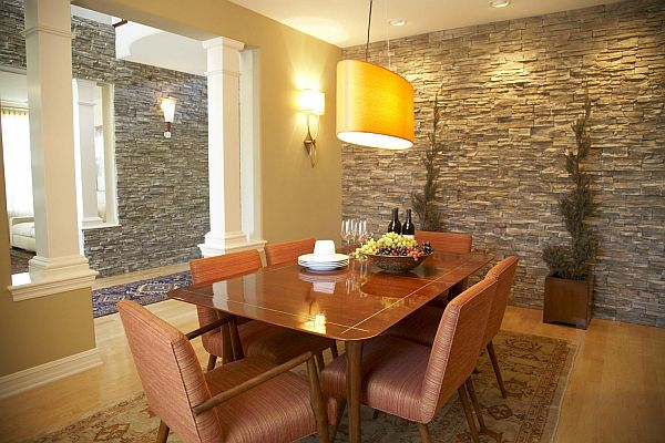 Stone Wall Interior Design Wood Planking For Walls
