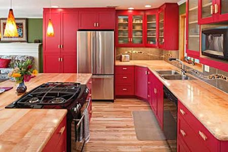 Or If It Needs To Be Really Bright U2014 Why Not A Little Chartreuse Astonishing Charming Red Kitchen Cabinets Shining Fantastic