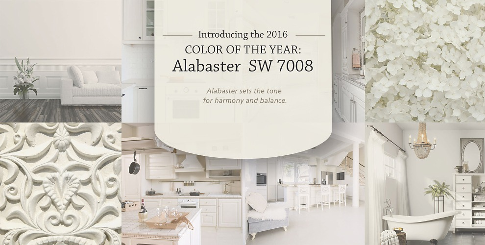 White Hot - Sherwin Williams Color of the Year Alabaster