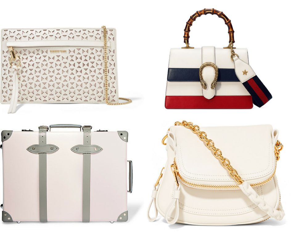 alabaster bags Elizabeth and James, Gucci, Globe Trotter Tom Ford
